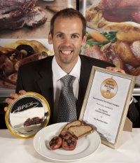 Beechen Cliff school chef Tim Fletcher with his winning Breakfast Slice and award